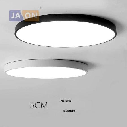 מסודר מנורת לד צמודת תקרה עגולה - שחור ולבן • Light • Stylink SE-14